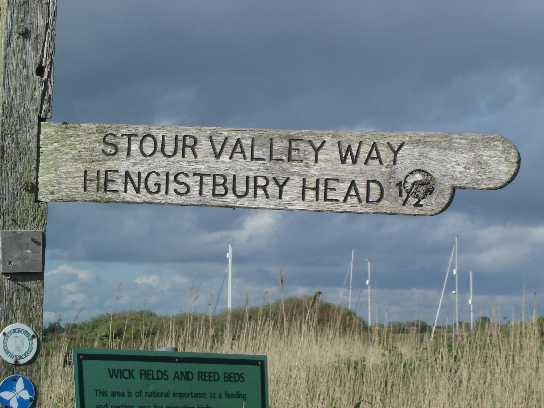 Signpost to Hengistbury Head